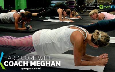 Hard core on the floor with Coach Meghan @meghan.wicks!